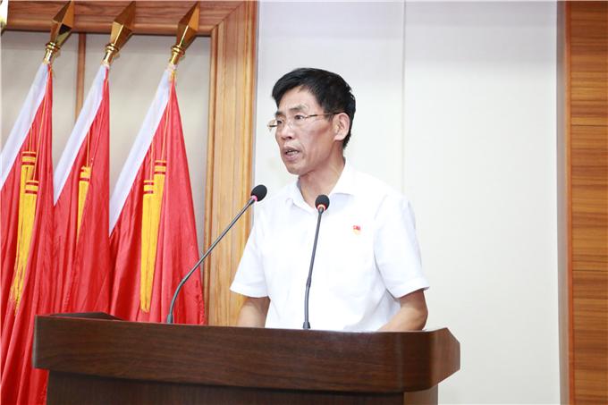 学院党委书记兼执行院长齐广武讲话